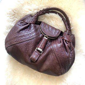 Fendi Leather Spy Bag in Brown